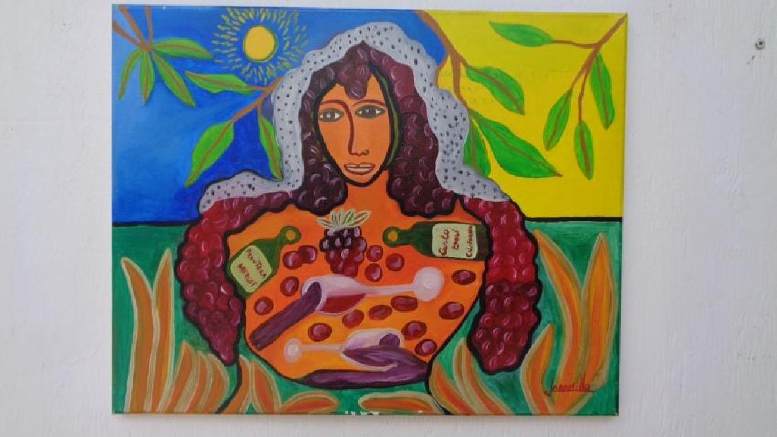G. Jaramillo N. York 2012 Oil Painting-Signed