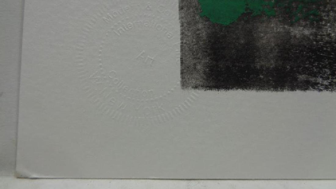 Abstract Modern Minimalism Black-Green Ink- Painting - 2