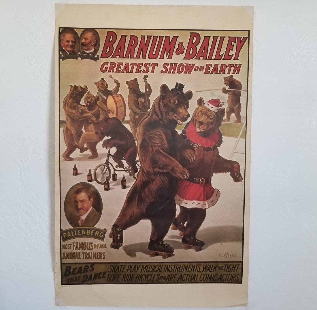 Vintage Barnum & Bailey Greatest Show on Earth Poster