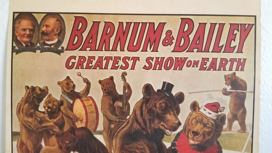 Vintage Barnum & Bailey Greatest Show on Earth Poster - 2