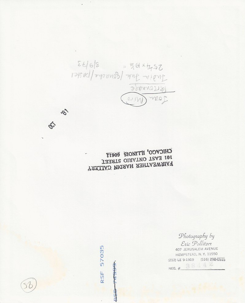 "1973 Photo of Joan Miro ""Personage"" Pastel painting - 2"