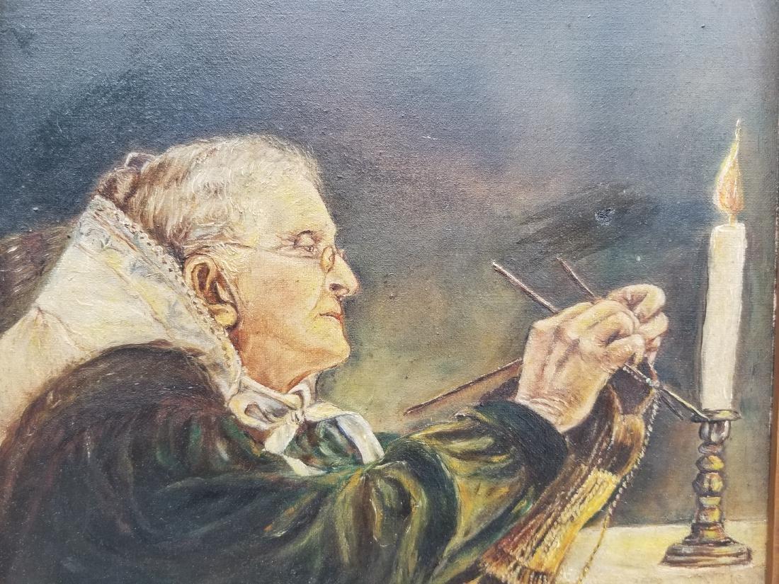 Original Vintage Oil Painting On Canvas - 2