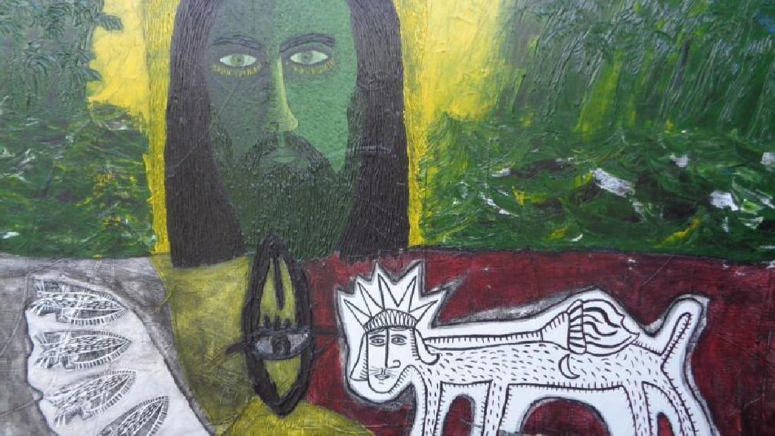 Large Painting Cuban Artist Michel Blazquez - Ciclo De - 2