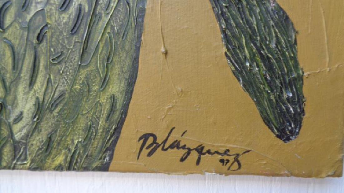 Large Painting Cuban Artist Michel Blazquez - Ciclo De - 3