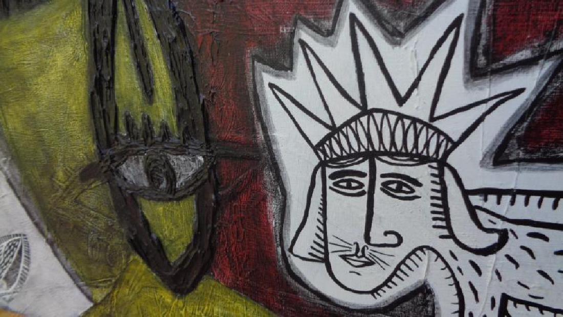 Large Painting Cuban Artist Michel Blazquez - Ciclo De - 4