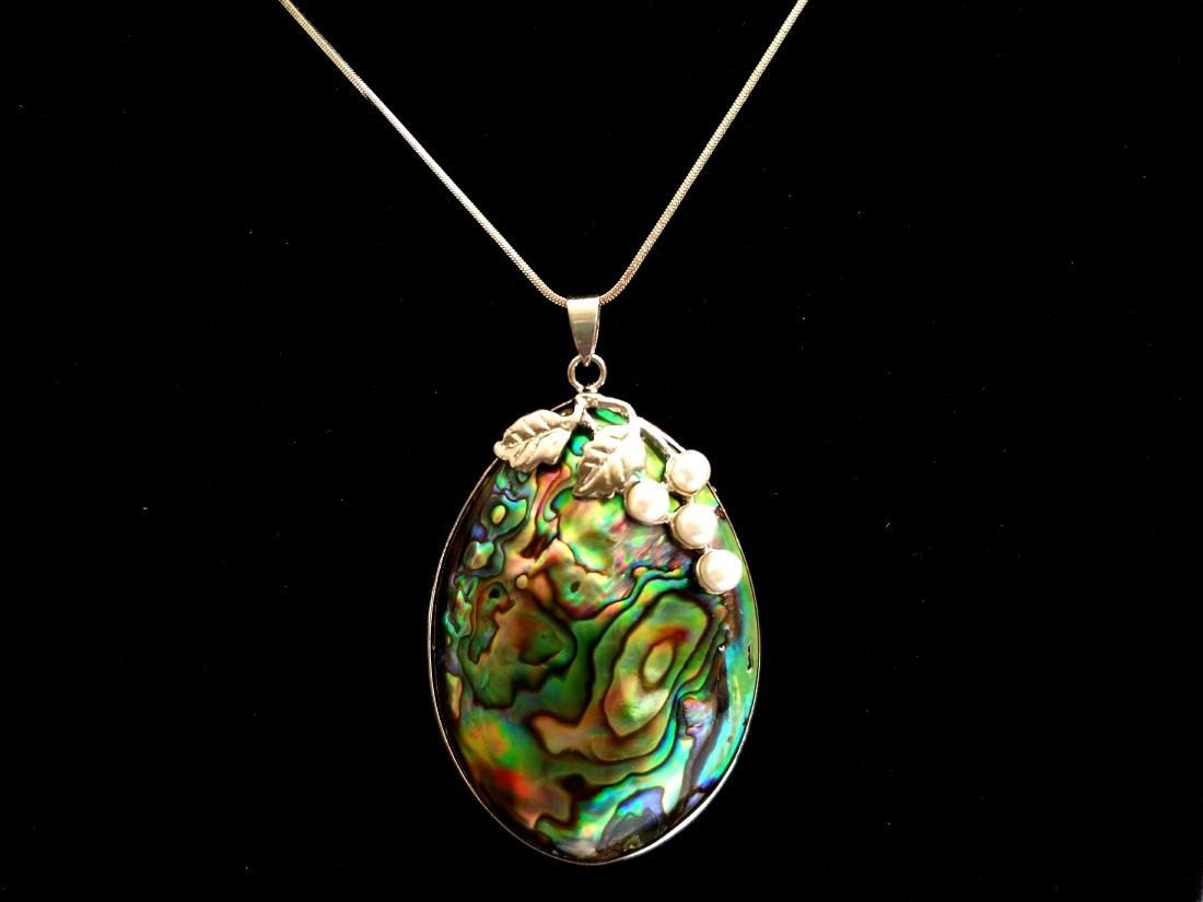 Carved Cameo Shell Gemstone Silver Plated Pendant Bride