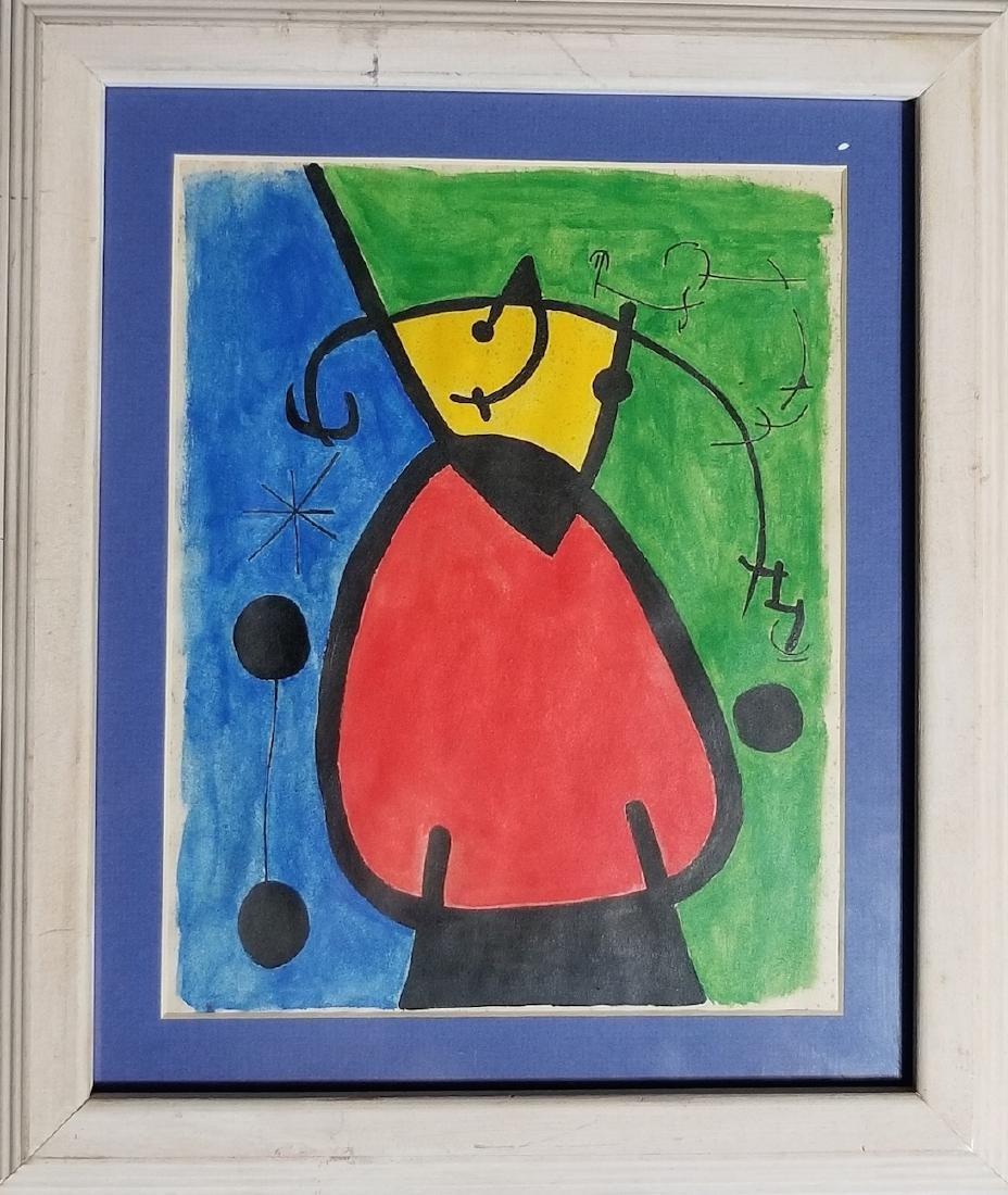 Joan Miro Painting Signed