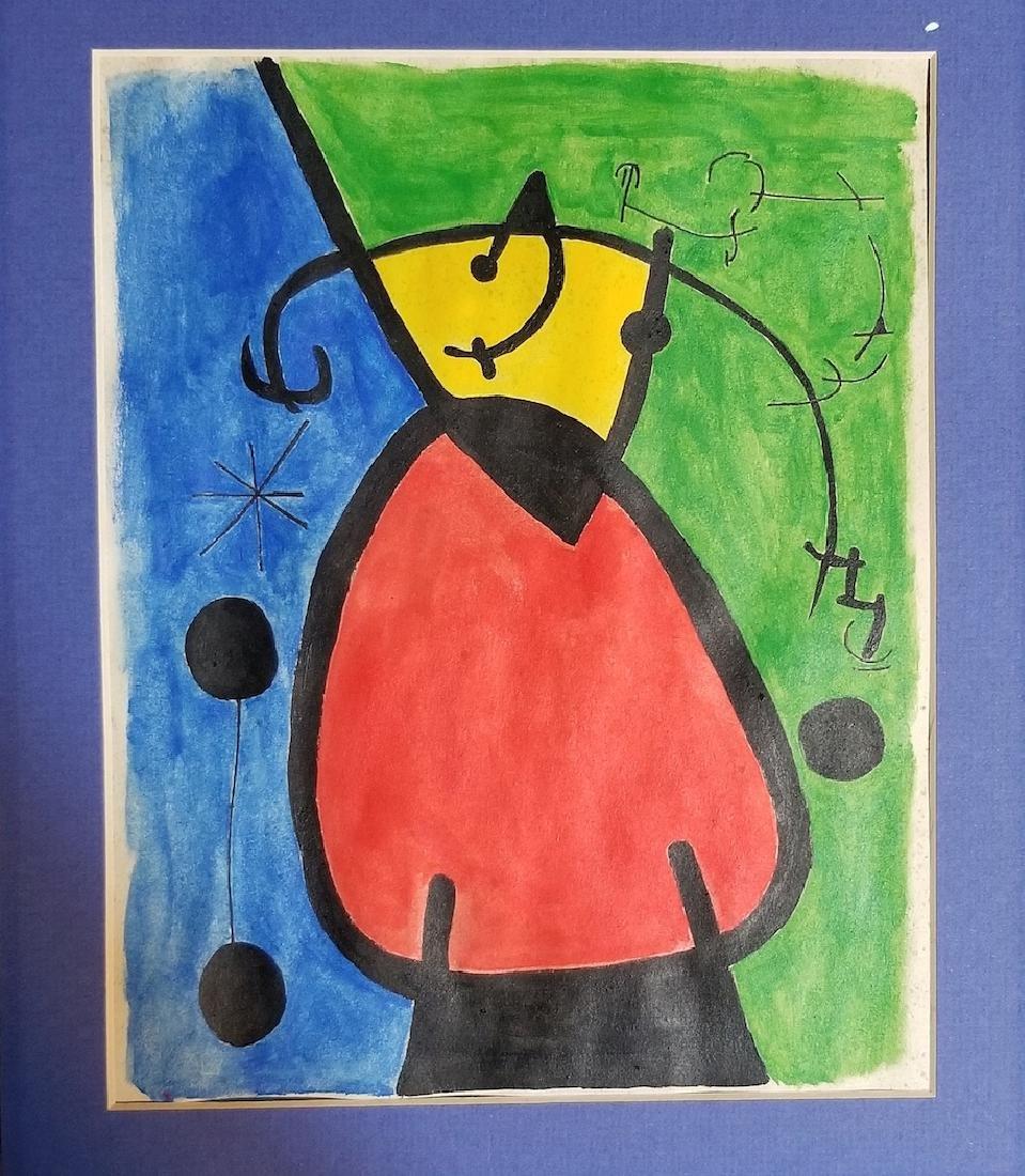 Joan Miro Painting Signed - 2