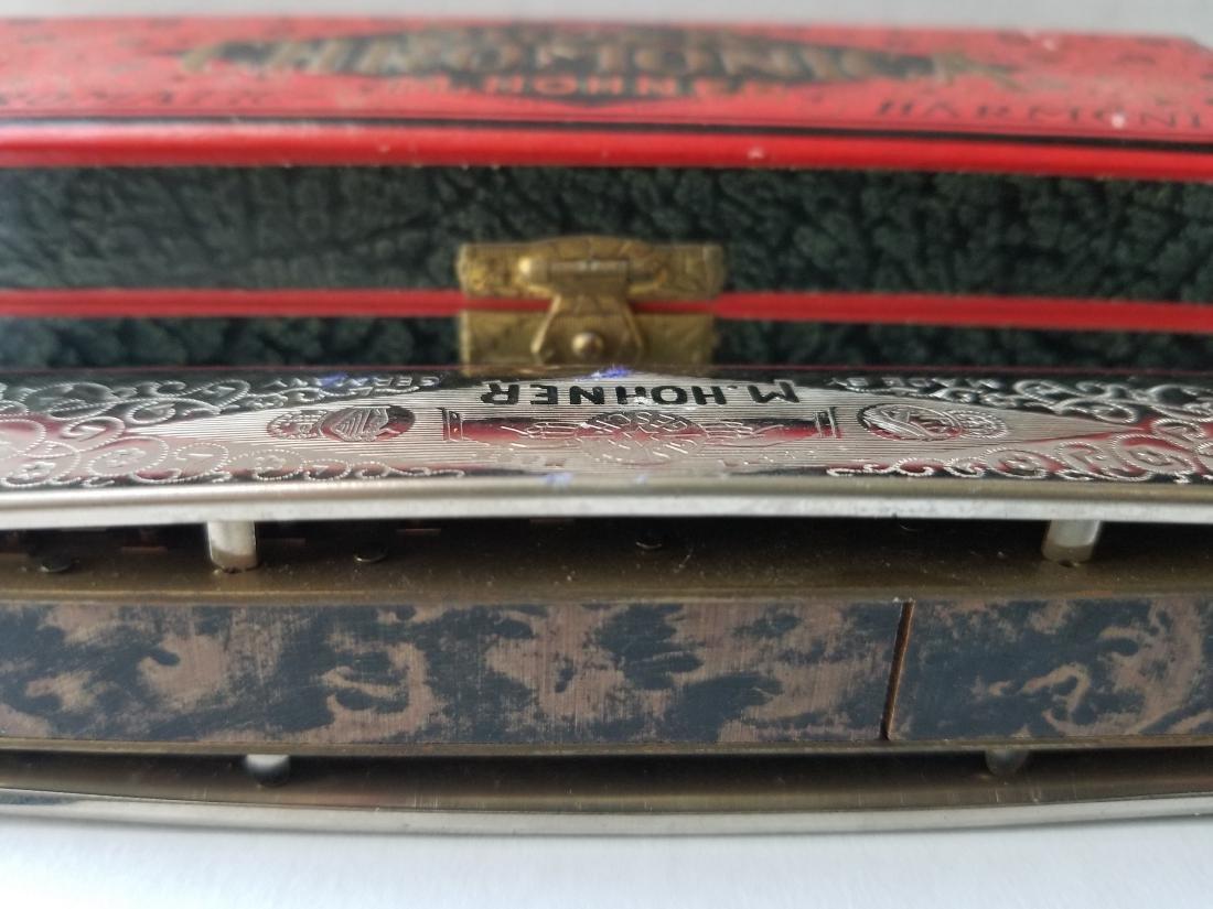 Vintage M.Hohner Chromatic Harmonica Germany - 2