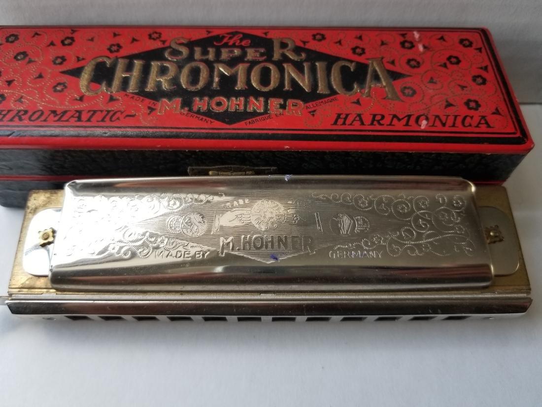 Vintage M.Hohner Chromatic Harmonica Germany - 3