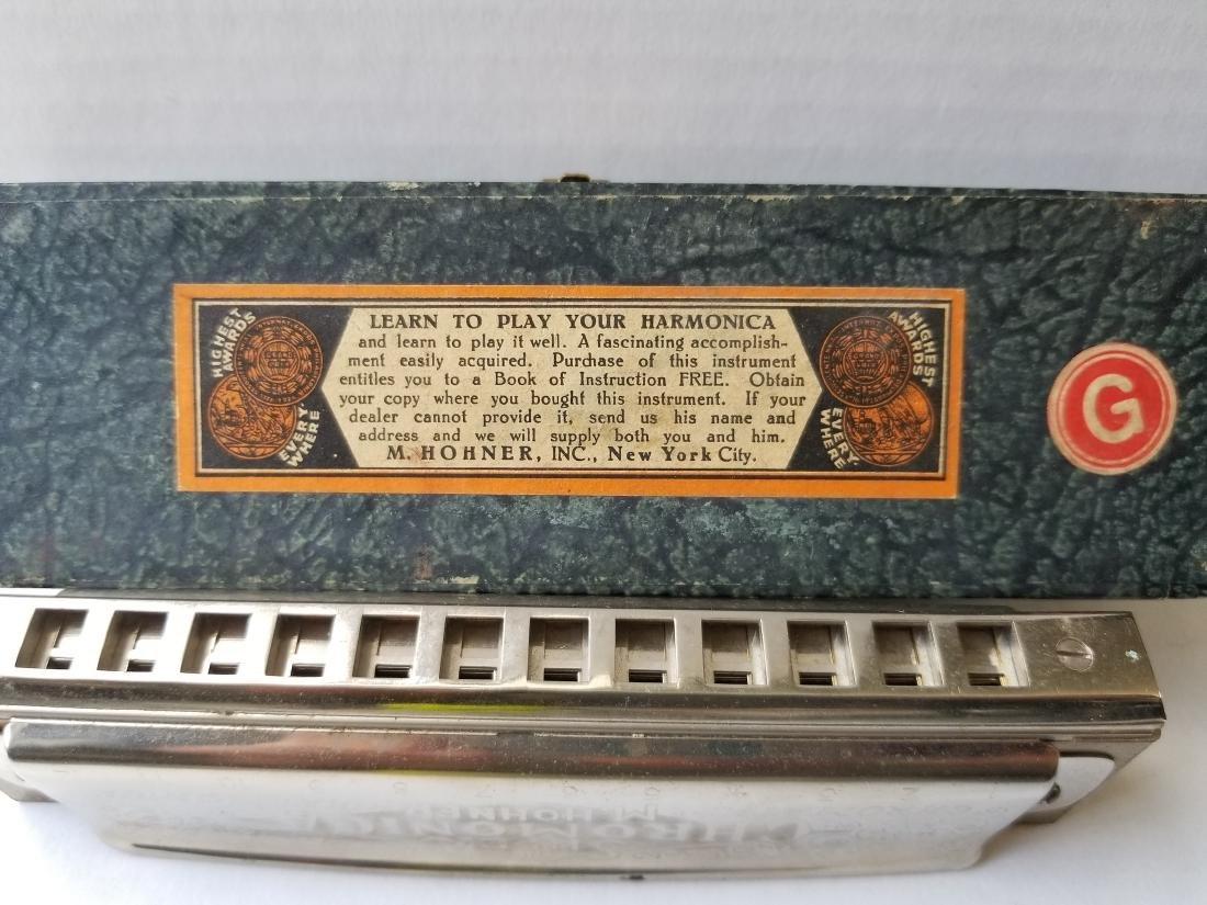 Vintage M.Hohner Chromatic Harmonica Germany - 4
