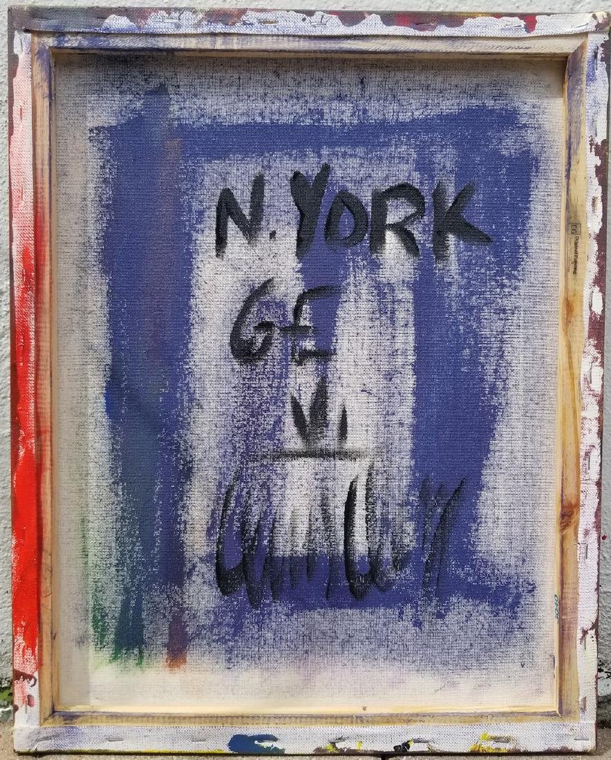 Original Abstract Painting. NYork Signed On Canvas - 3