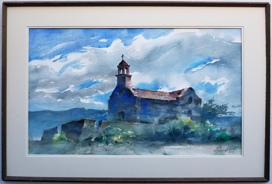 Original Lumen Martin Winter Watercolor 1981. Signed