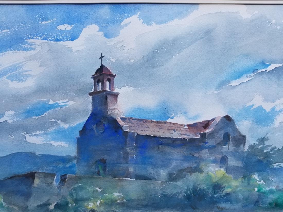 Original Lumen Martin Winter Watercolor 1981. Signed - 2