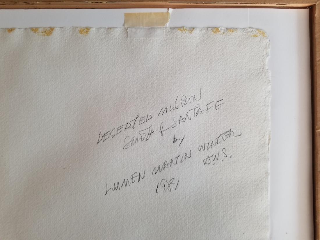 Original Lumen Martin Winter Watercolor 1981. Signed - 3