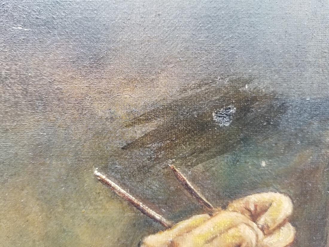 Original Vintage Oil Painting On Canvas - 3