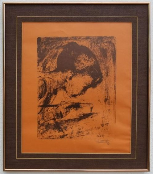 The Painter by Thornton Utz. Signed by the artist.