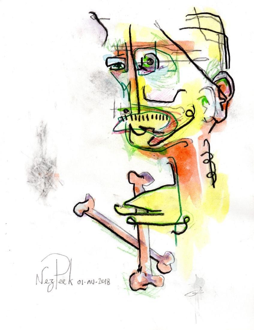 Original NEO-expressionist ART drawing contemporary