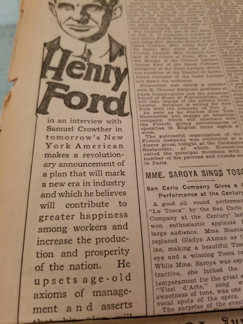 The New York Times Newspaper COA September 25,1926 - 8