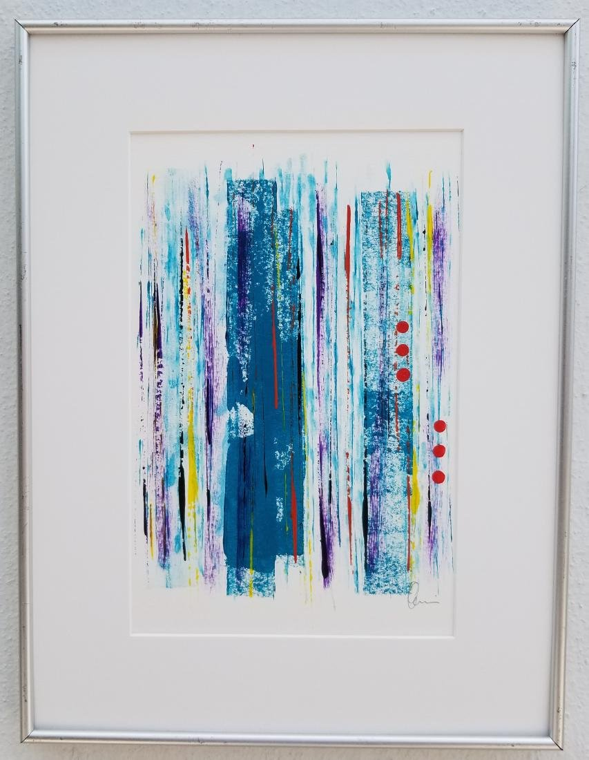 Original Modern Abstract Painting Signed