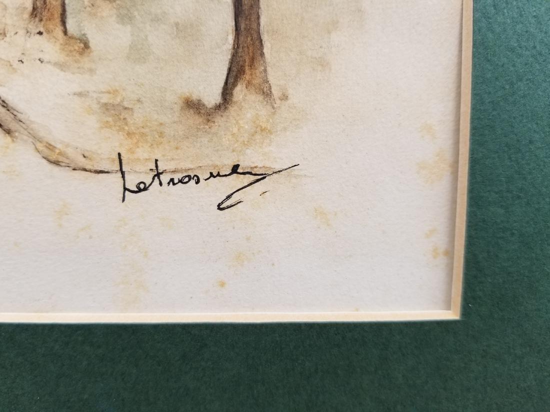 Original Watercolor Painting Signed Paris - 5