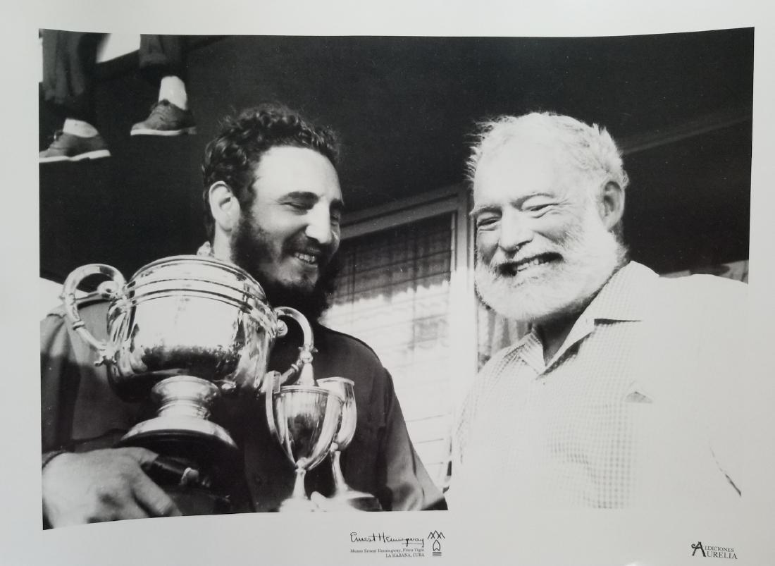 Fidel Castro & Ernest Hemingway, Habana Cuba 1960
