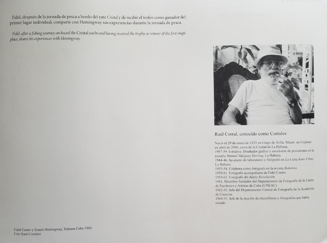 Fidel Castro & Ernest Hemingway, Habana Cuba 1960 - 2