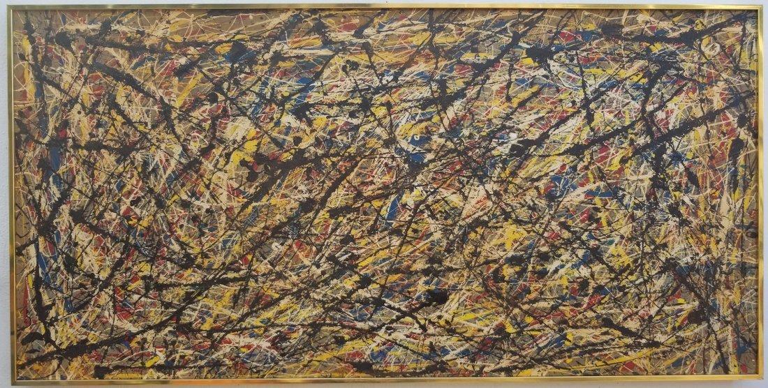 Abstarct Painting On Canvas JACKSON POLLOCK