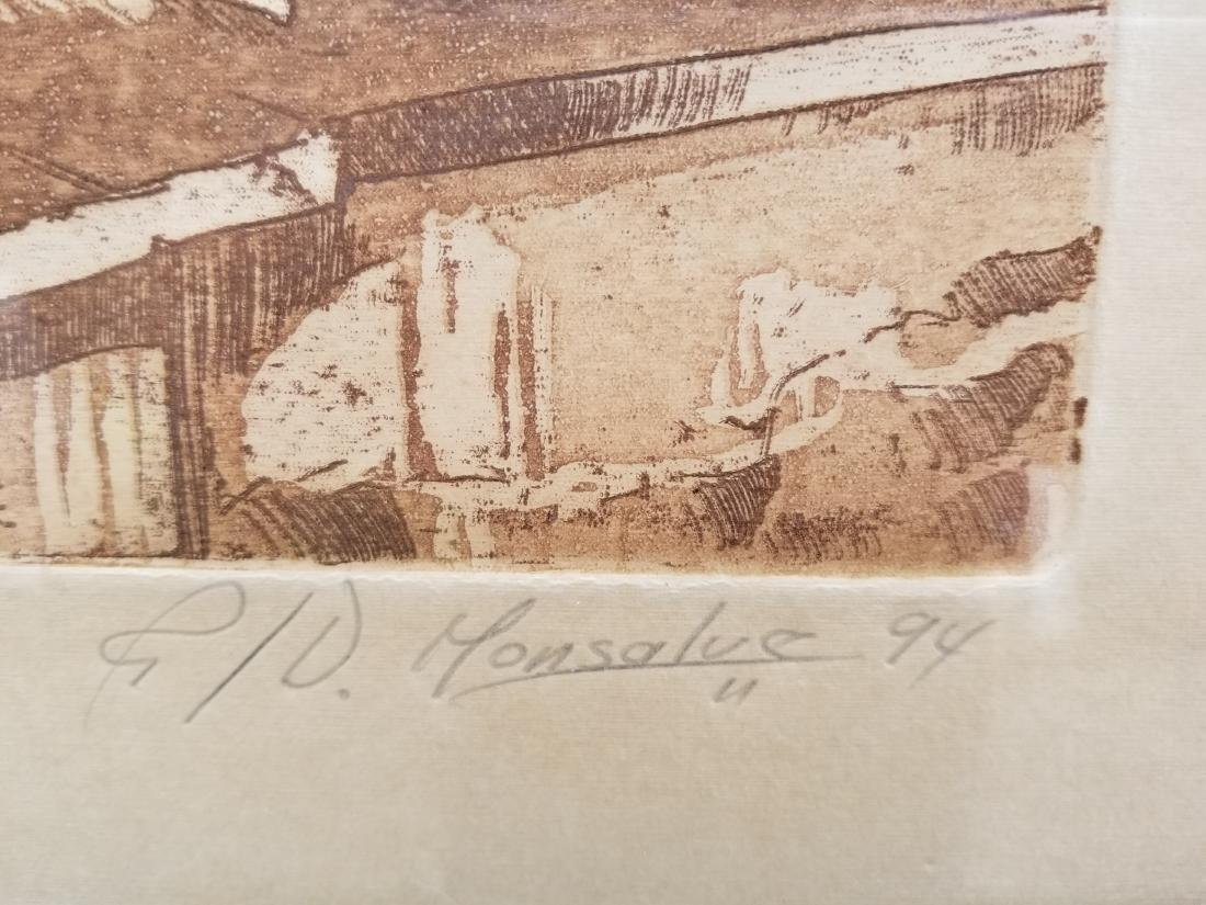 Ruben Monsalve Original Engraving Signed And Numbered - 2