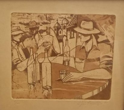 Ruben Monsalve Original Engraving Signed And Numbered