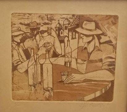 Ruben Monsalve Original Engraving Signed And Numbered