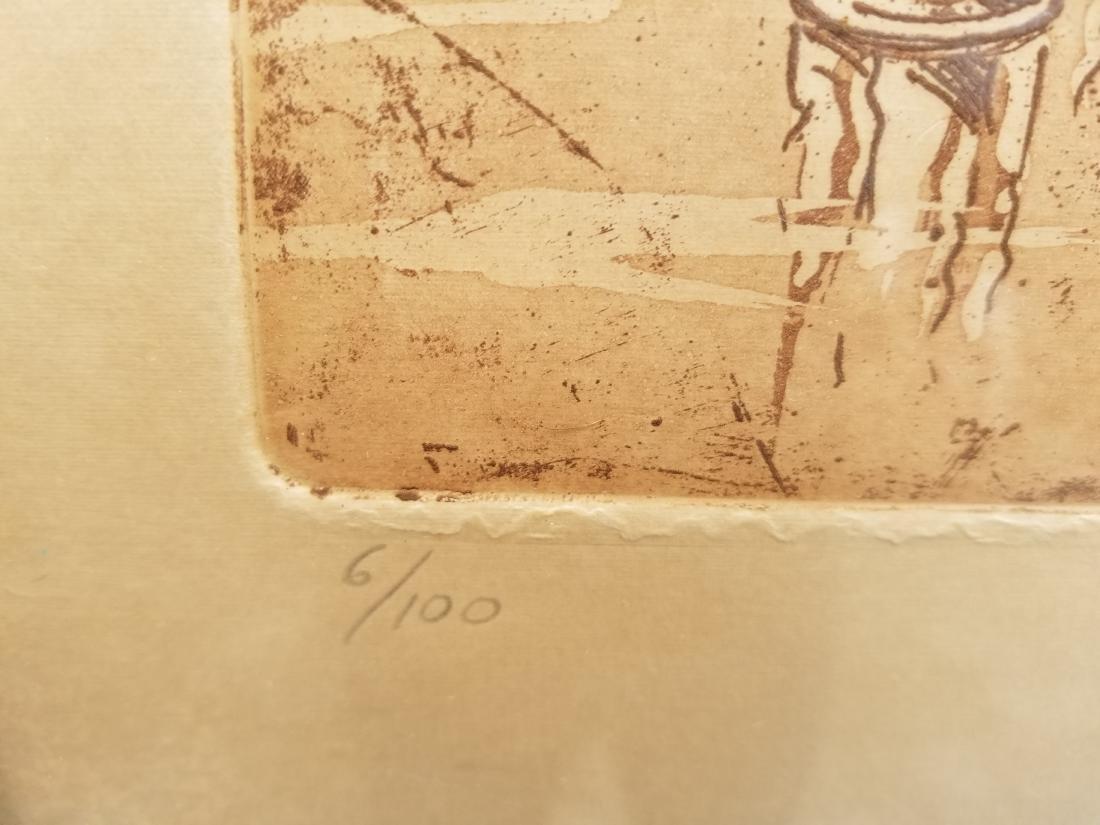 Ruben Monsalve Original Engraving Signed And Numbered - 3