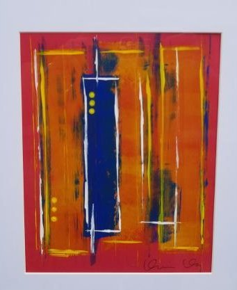 Original Abstract Contemporary Painting On Paper