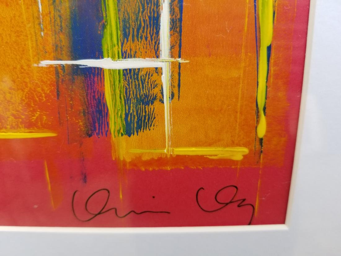 Original Abstract Contemporary Painting On Paper - 2