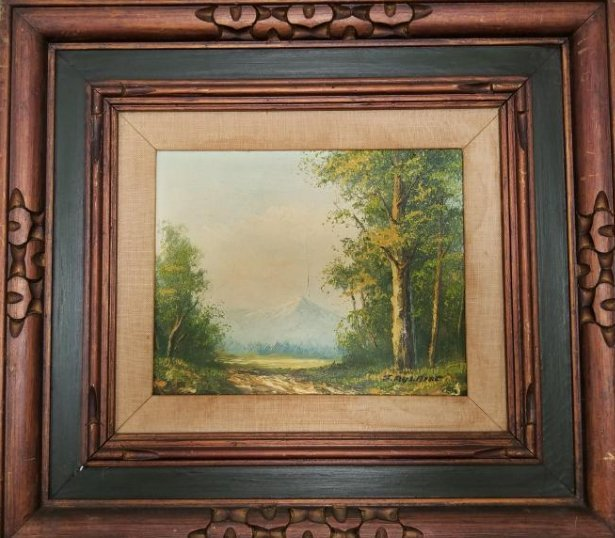 J. Aulaire Vintage Oil Painting