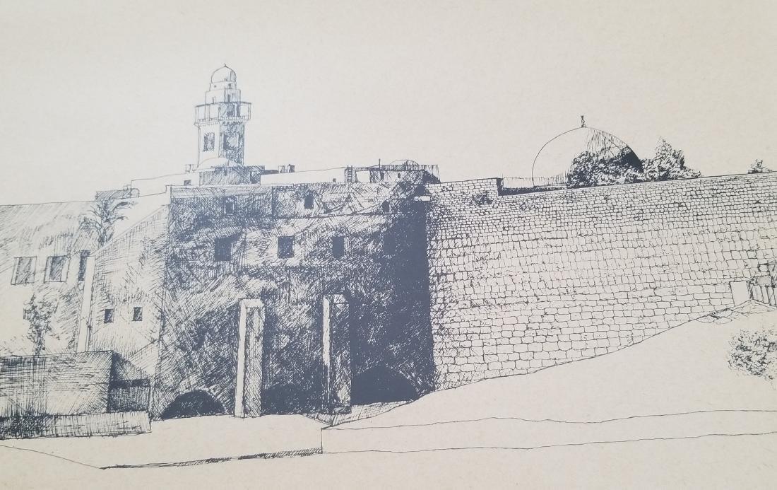 Original Engraving Jerusalem -Roger Savaterri- - 4
