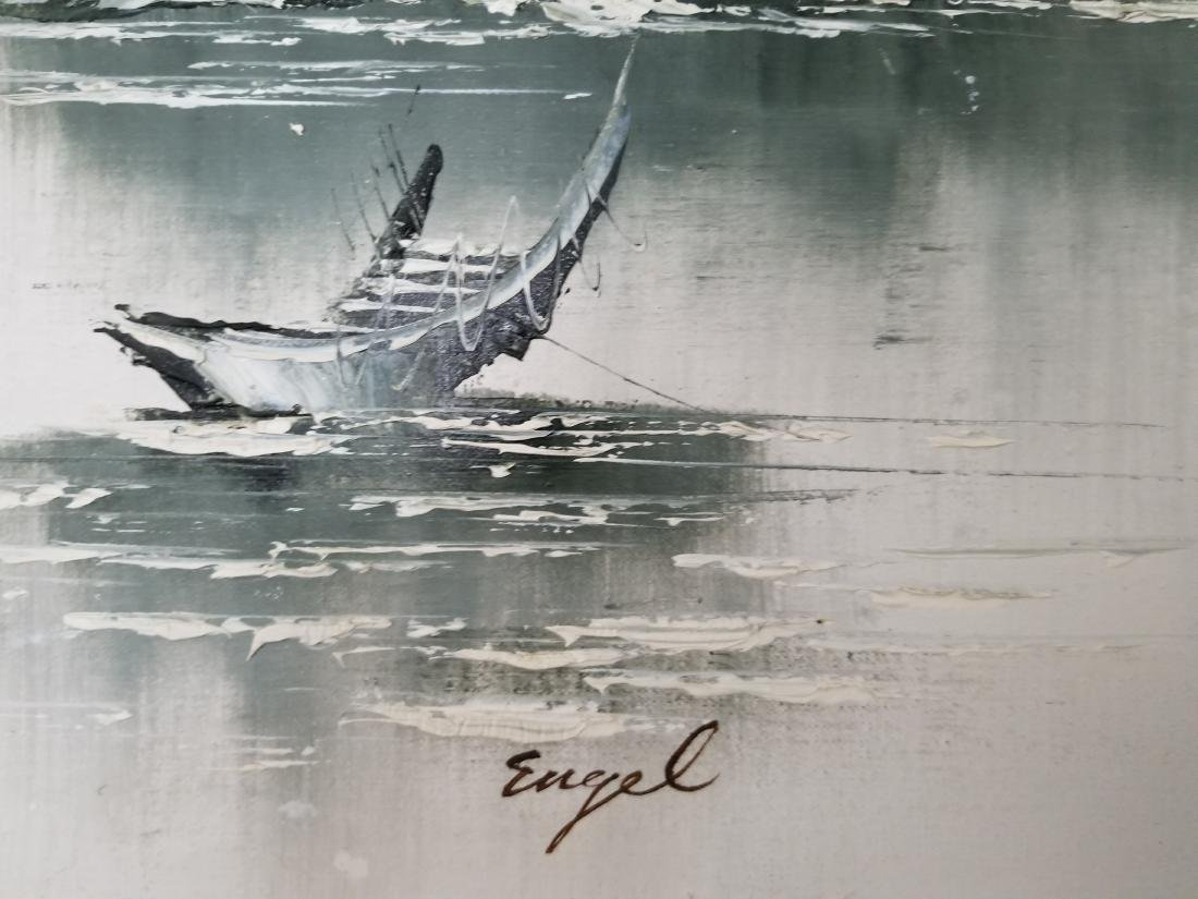 Oil Painting On Canvas. Engel Signed - 4