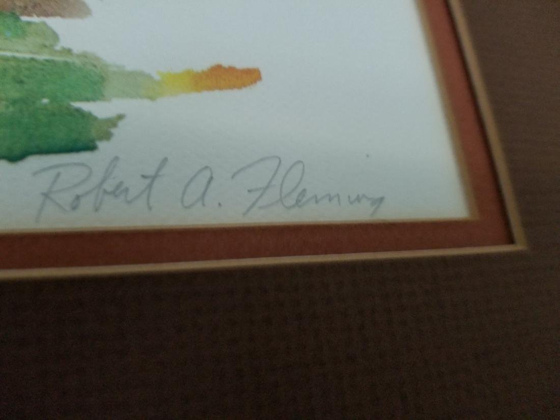 Robert Fleming Hand Signed And Numbered Artwork - 3