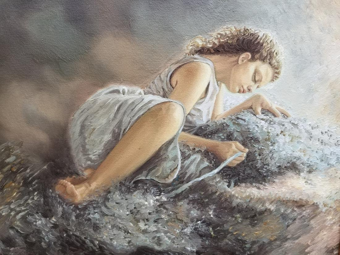Original Oil Painting On Canvas BY Artist Maria - 2