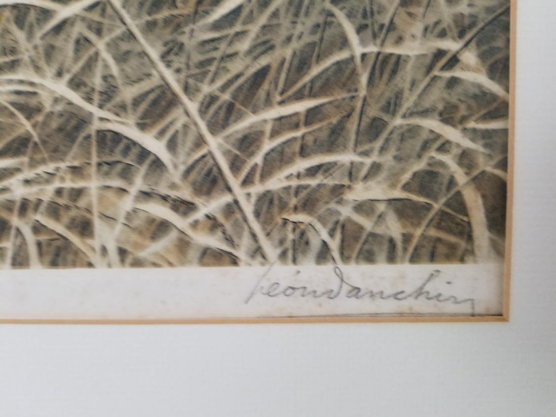 Leon Danchin Original Etching Signed - 3