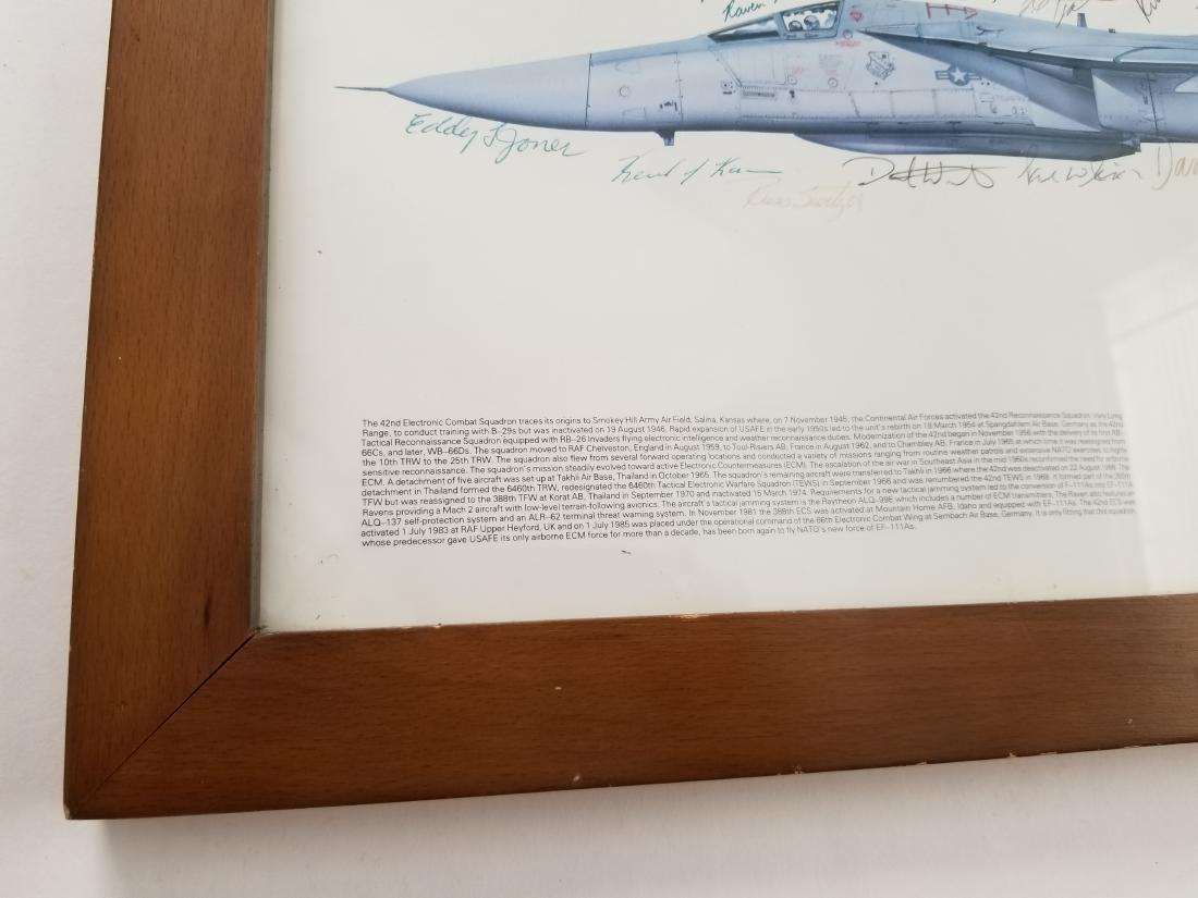 EF-111A Raven 42 ECS RAF Upper Heyford Print Hand - 3