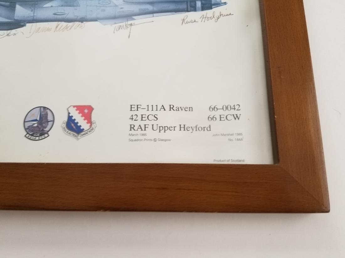 EF-111A Raven 42 ECS RAF Upper Heyford Print Hand - 4