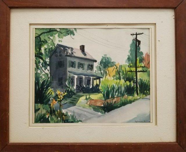 Original Watercolor -Sylvanus'51- Signed
