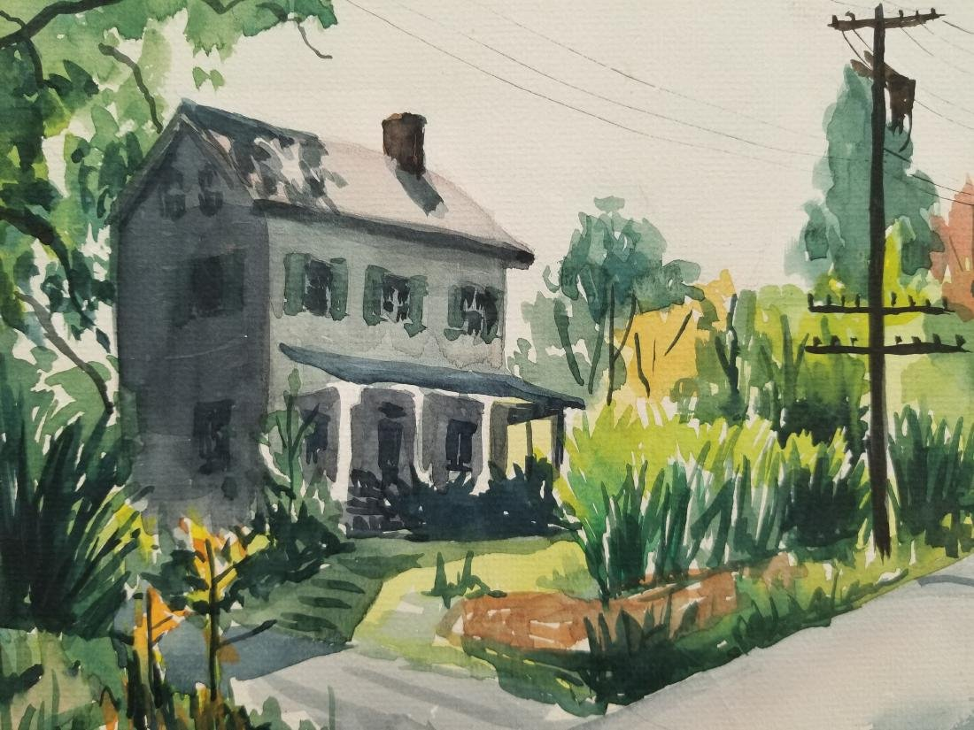 Original Watercolor -Sylvanus'51- Signed - 2