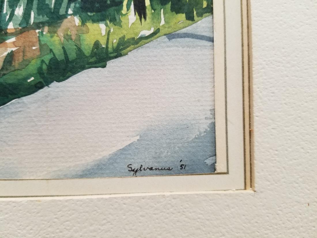 Original Watercolor -Sylvanus'51- Signed - 3