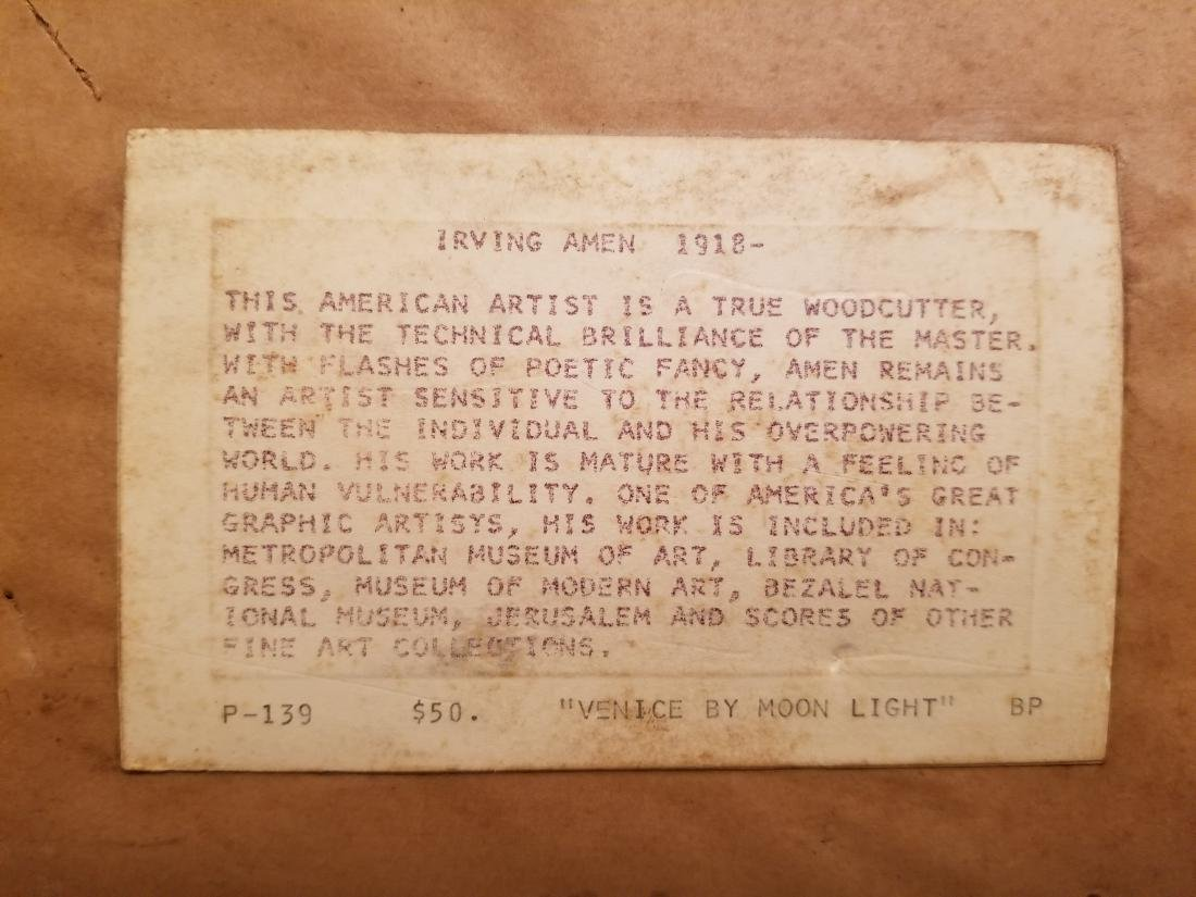 Irving Amen Original Lithograph - 10