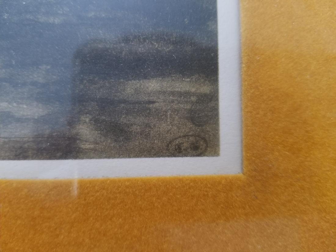 Original Rare Lithograph Signed - 7