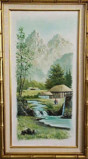 Vintage Oil Painting-Suh Jin Hee