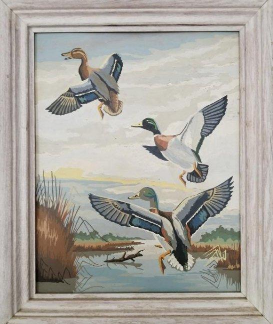 Original Painting On Cardboard