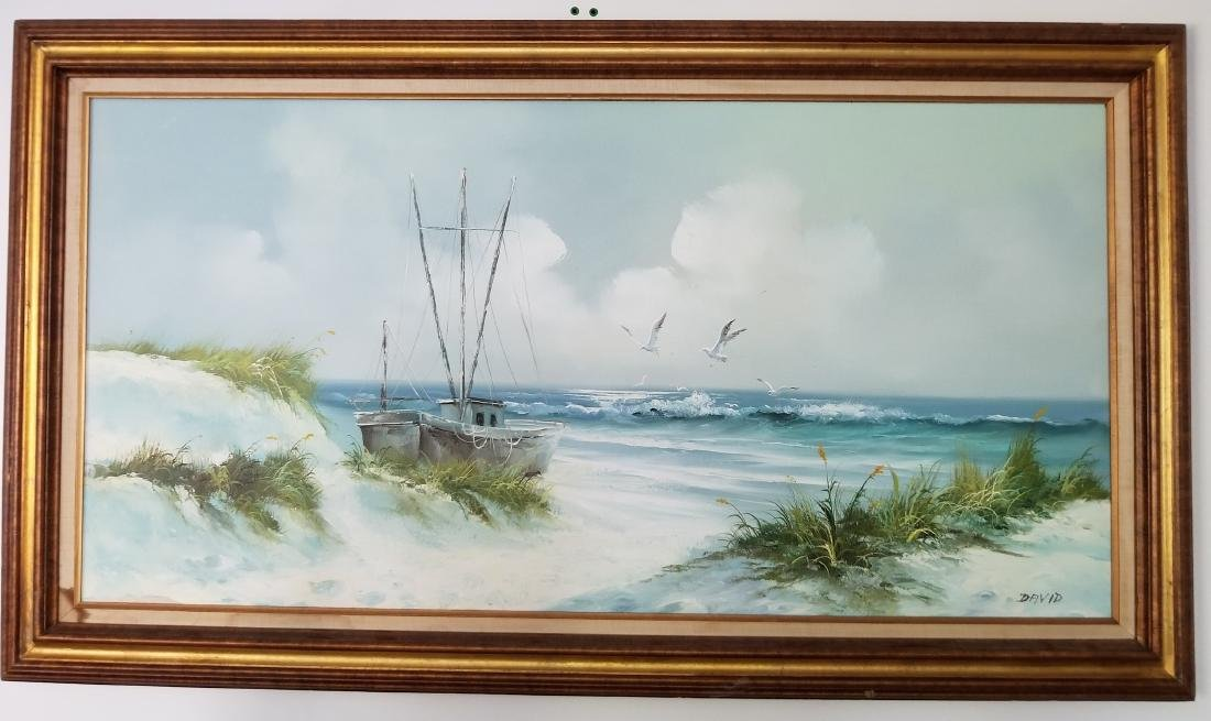 Landscape Painting On Canvas Signed By the Artist